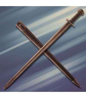 Acre espada medieval de luta por um lado, afiado