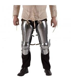 Armadura medieval para piernas y rodillas