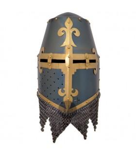 capacete cruzados com spangenhelm viseira