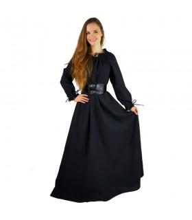 Mulher vestido medieval longa