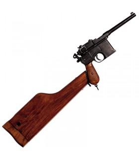Pistola C96, diseñada por Mauser, Alemania 1896