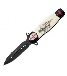 lâmina de faca Preto Cavaleiro Templário