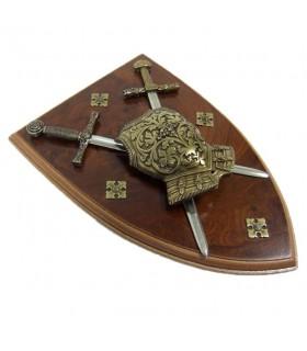 armadura panóplia com espadas