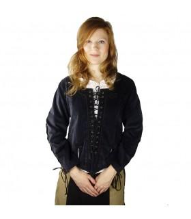 blusa com babados Mulher medieval