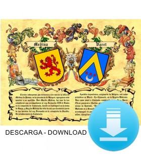 Pergaminho Virtual escudo de armas 2 sobrenomes