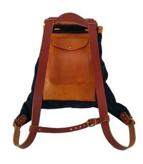 bolsa de couro Medieval, Azul