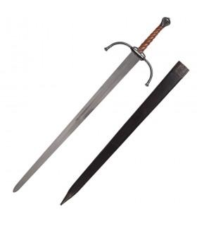 Bastarda espada medieval por muito tempo ou práticas