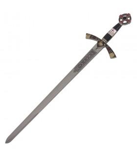 Espada Templária cadete decorada. 76 cms.