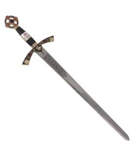 Espada Templária cadete dourada. 76 cms.