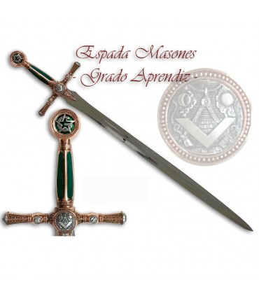 Masones.- espada Grau de Aprendiz