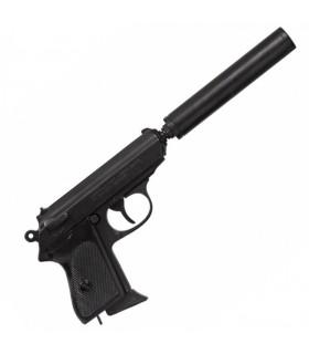 pistola semi-automática com silenciador