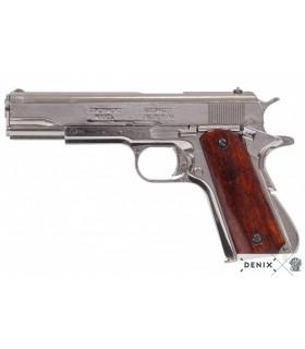 prata pistola automática M1911, EUA, 1911