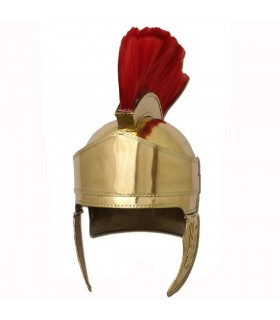capacete grego com pena