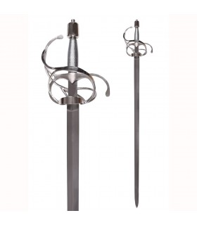 Espada Rapiera con hoja ancha