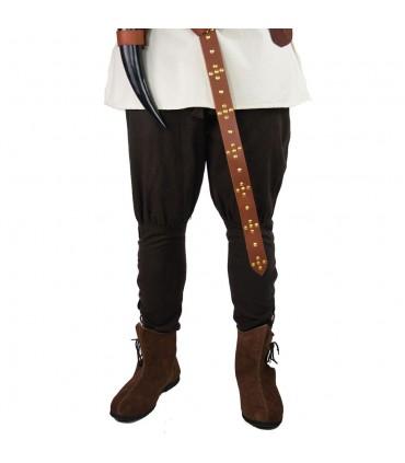Calças Viking em lã castanha