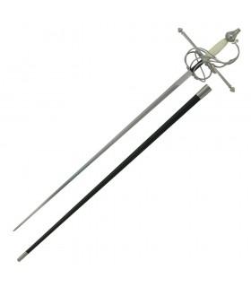 Rapier espada, osso punho