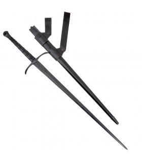 Agincourt mão e um combate meia espada, afiada