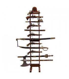 Expositor 24 armas penduradas (162 cms.)