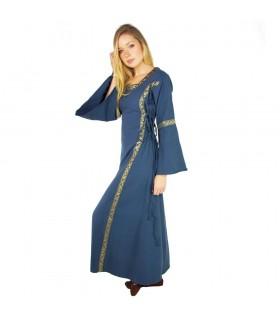 Vestido medieval mulher azul