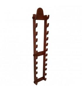 Exposição com 12 armas de suspensão de parede (146 cms.)