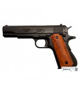 Pistola automática M1911A1, cachas madera oscura, USA 1911