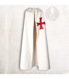 Manto medieval com cruz de âncora vermelha