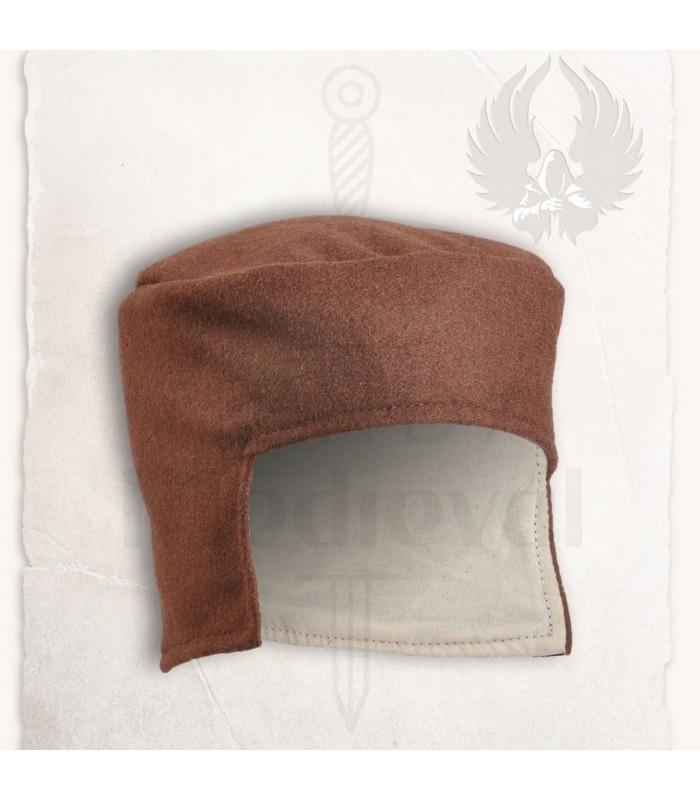 295d445cd03ad Acessórios Chapéus-Luvas chapéus Chapéu medieval chapéu marrom. Sombrero  medieval Cap negro