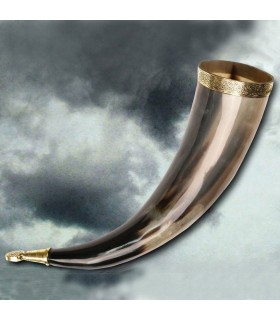 Cuerno vikingo sin agujero, 38 cms.