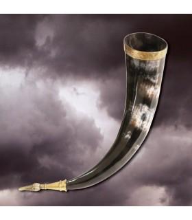 Cuerno vikingo sin agujero, 36 cms.