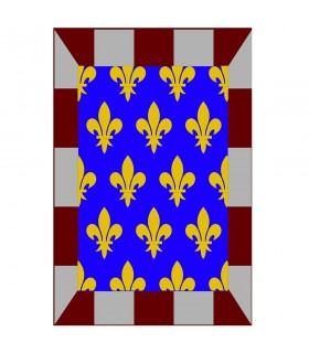 Mosaico medieval banner fleur de lis, vários tamanhos