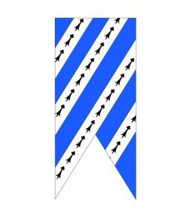 Bandeira de céu azul branco medieval
