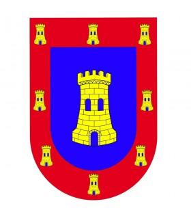 Armas de castelo medieval escudo bandeira