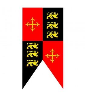 Estandarte medieval cuartelado Ricardo Corazón de León