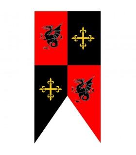 Dragões e cruzes medievais do quartel padrão