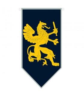 Estandarte medieval dragón con espada