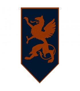 Banner de dragão medieval desenfreado