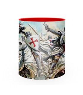 Caneca de cerâmica lutando Cavaleiros Templários