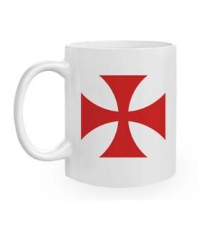 Taza de Cerámica Cruz Templaria