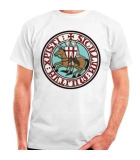T-shirt dos Cavaleiros Templários, manga curta