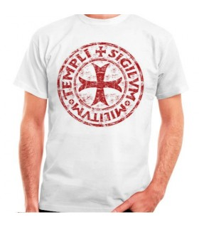 T-shirt branca Cross-Legend Templar, manga curta