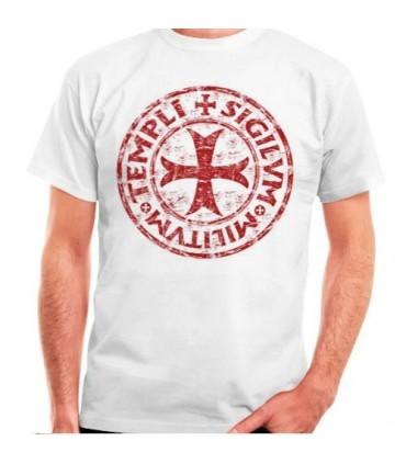 T-shirt branca Cross-Legend Templar, manga curta
