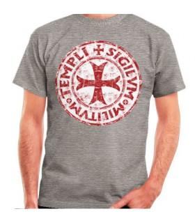 T-shirt Cinza Cross-Legend Templários, manga curta