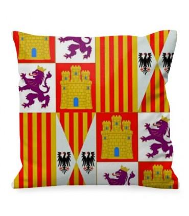 Almofada medieval Brasão de armas Castela e Leão