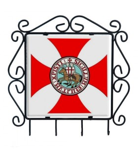 Colgador de llaves Cruz Templaria en forja