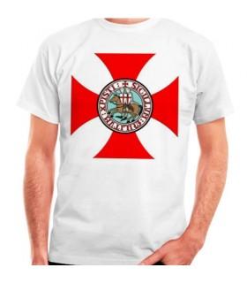 T-shirt Templar Cross com Cavaleiros Templários