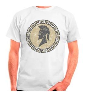 T-shirt branca espartana, manga curta