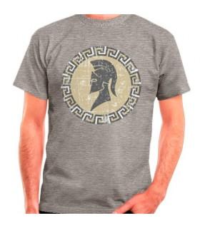 T-shirt cinza espartano, manga curta
