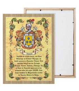 Cuadro escudos heráldicos 1 apellido (30x40 cms.)