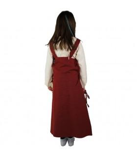 Vestido-sobrevesta para niñas