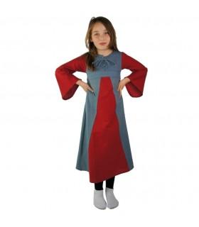Vestido medieval bicolor para meninas